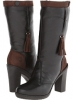 Black/Chocolate Leather Lobo Solo Sophia for Women (Size 7)