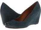 Blue Leather Franco Sarto Olivia for Women (Size 7)