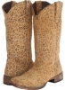Leopard Print Square Toe Boot Women's 5