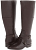 Dark Brown Leather Nine West Blogger Wide Calf for Women (Size 7)