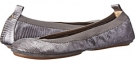 Samara Lagarto Metallic Leather Fold Up Flat Women's 6